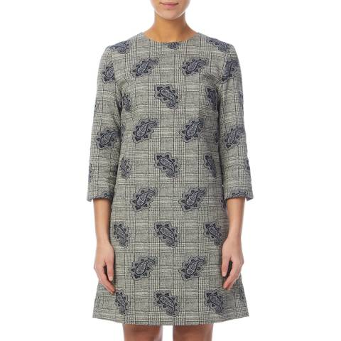 PAUL SMITH Grey Check Patterned Dress