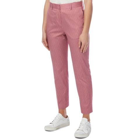 PAUL SMITH Pink Geometric Flower Stretch Trousers