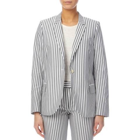 PAUL SMITH Grey Striped Cotton Blazer