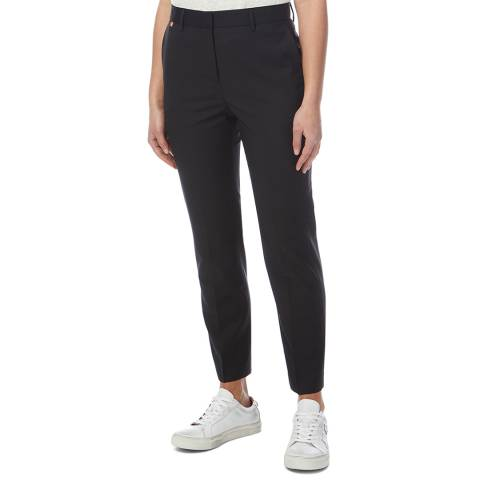 PAUL SMITH Black Tapered Wool Blend Trousers