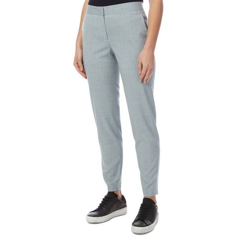 PAUL SMITH Light Blue Tapered Wool Trousers