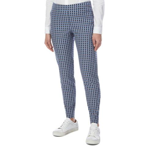 PAUL SMITH Blue Check Classic Stretch Trousers