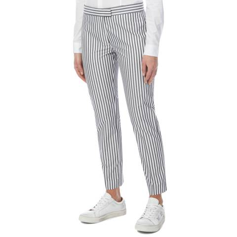 PAUL SMITH Grey Stripe Slim Cotton Trousers