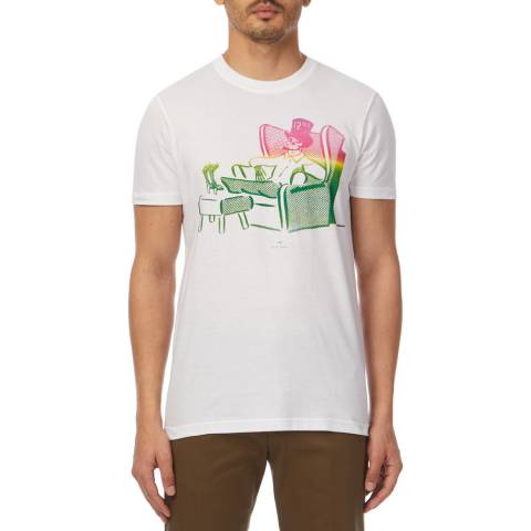 PAUL SMITH White Dead Comfy Slim T-Shirt