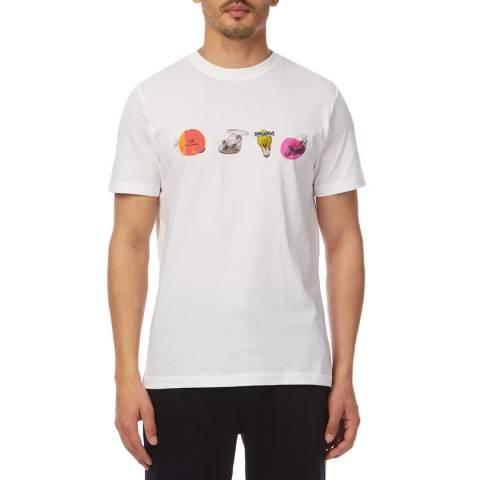 PAUL SMITH White Skull Regular T-Shirt