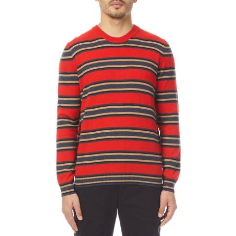 PAUL SMITH Red Stripe Cashmere Jumper