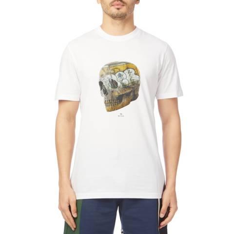 PAUL SMITH White Skull Regular Cotton T-Shirt