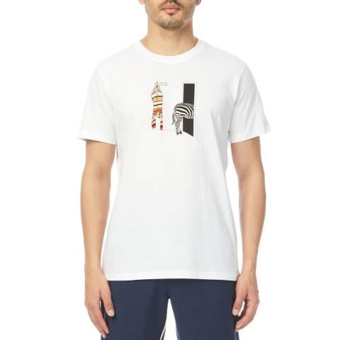 PAUL SMITH White Zebra Regular Fit T-Shirt