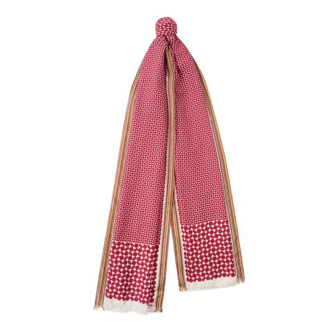 PAUL SMITH Red Geo Print Scarf