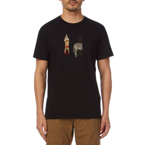 PAUL SMITH Black Zebra Regular Fit T-Shirt