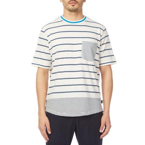 PAUL SMITH White Stripe Pocket Regular T-Shirt