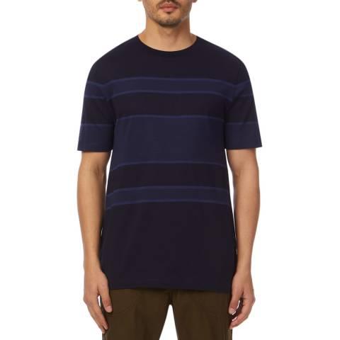 PAUL SMITH Navy Textured Crew T-Shirt