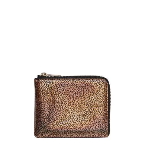 PAUL SMITH Gold Metallic Corner Zip Wallet