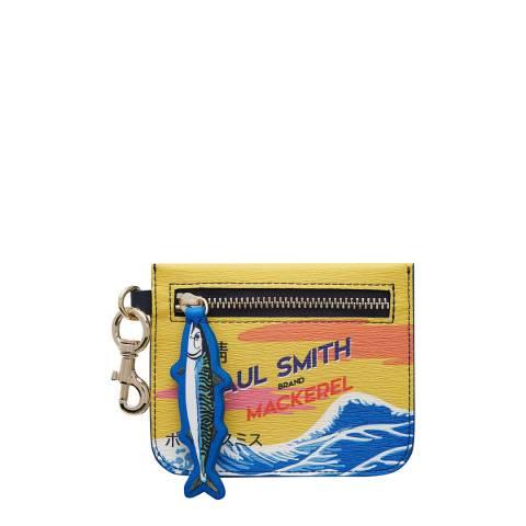 PAUL SMITH Yellow Mackerel Print Zip Pouch