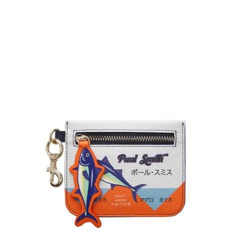 PAUL SMITH Multi Tuna Print Zip Pouch