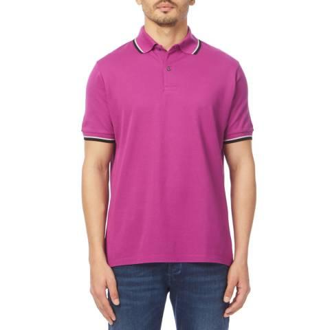 PAUL SMITH Fuchsia Cotton Polo Shirt