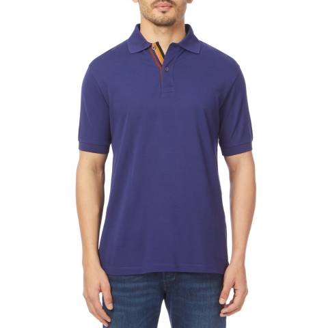PAUL SMITH Blue Cotton Polo Shirt