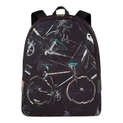 PAUL SMITH Black Pauls Bike Print Backpack