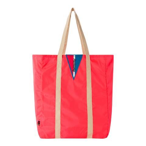 PAUL SMITH Fluro Red Foldaway Tote Bag