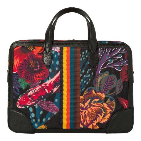 PAUL SMITH Black Koi Folio Bag