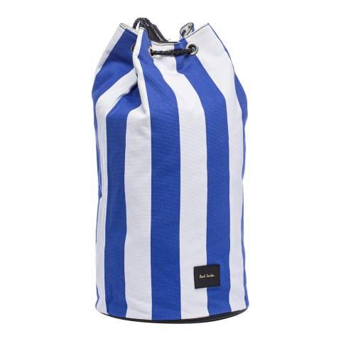 PAUL SMITH Blue White Stripe Duffle Bag