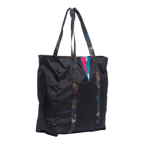 PAUL SMITH Black Camo Handle Tote Bag