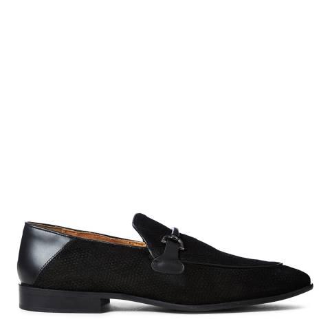 Kurt Geiger Black Leather Jacob Loafers