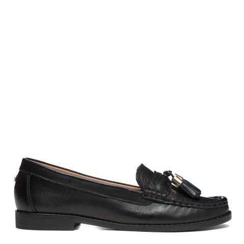 Carvela Black Leather Medium Tassel Loafers