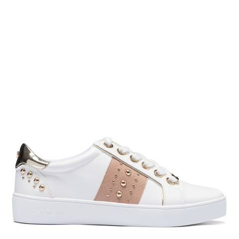 Carvela White/Blush Juju Trainers
