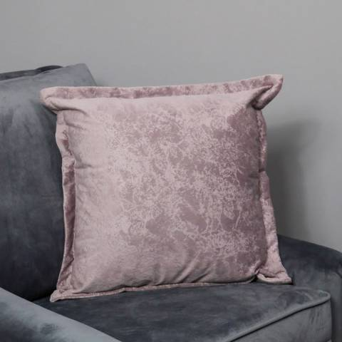 Native Home & Lifestyle Pink Crushed Velvet Cushion Cover