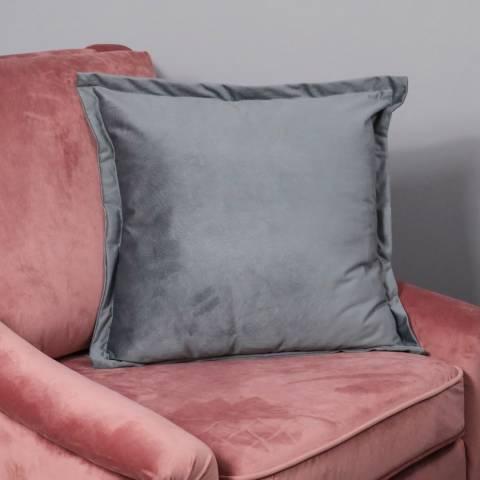 Native Home & Lifestyle Snakeskin Textured Grey Velvet Cushion Cover