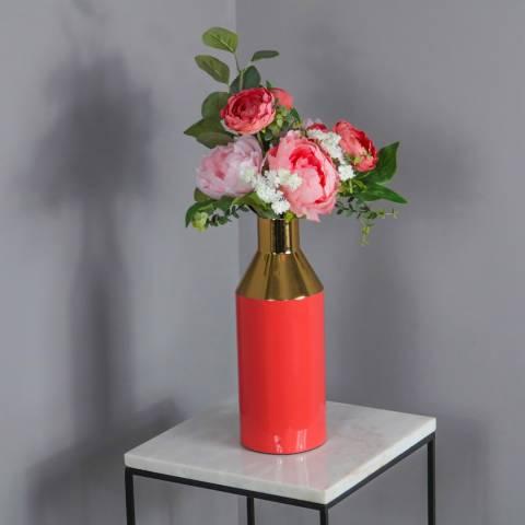 Native Home & Lifestyle Living Coral Gold Stem Vase
