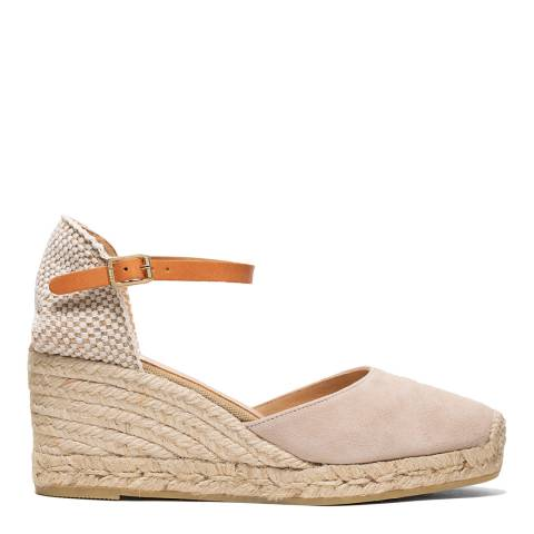 Kanna Taupe Suede Laura Wedge Sandal