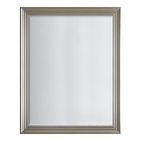 Gallery Brushed Steel Haylen Mirror 94x119cm