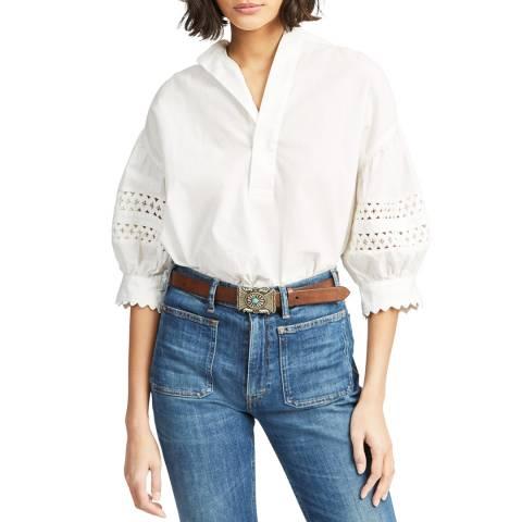 Polo Ralph Lauren White Lace Cotton Shirt