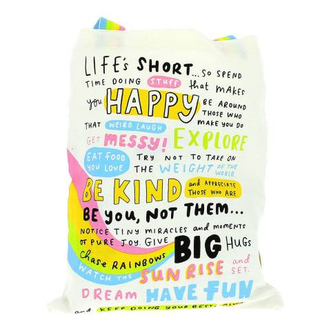 The Happy News Canvas Tote Bag