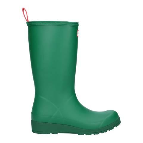 Hunter Green Play Tall Wellington Boots