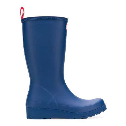 Hunter Blue Play Tall Wellington Boots