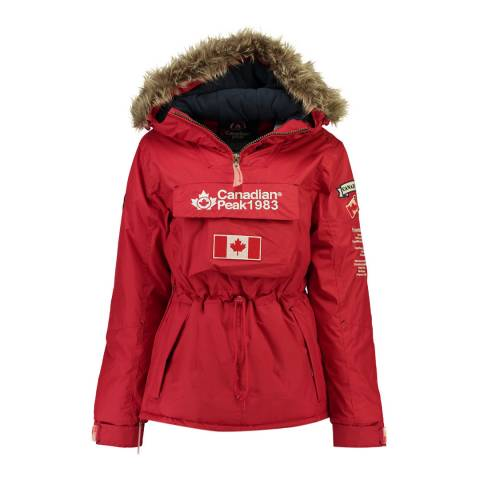 Canadian Peak Red Banella Pull Over Jacket