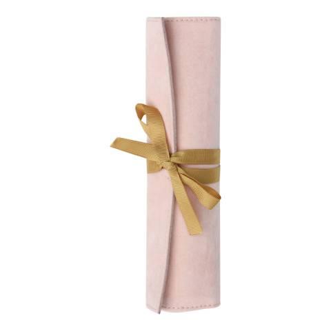 Caroline Gardner Pink Velvet Jewellery Roll