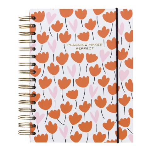 Caroline Gardner Heart Flower Notebook Organiser