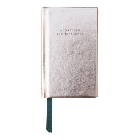 Caroline Gardner Rose Gold Metallic Handbag Address Book
