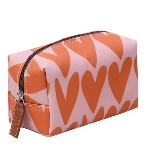 Caroline Gardner Hearts Cube Cosmetic Bag