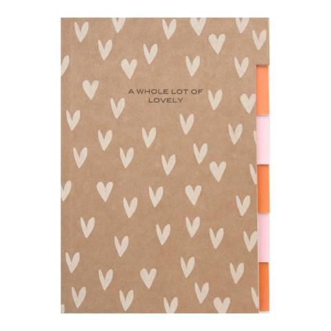 Caroline Gardner Multi Tab Notebook - Kraft