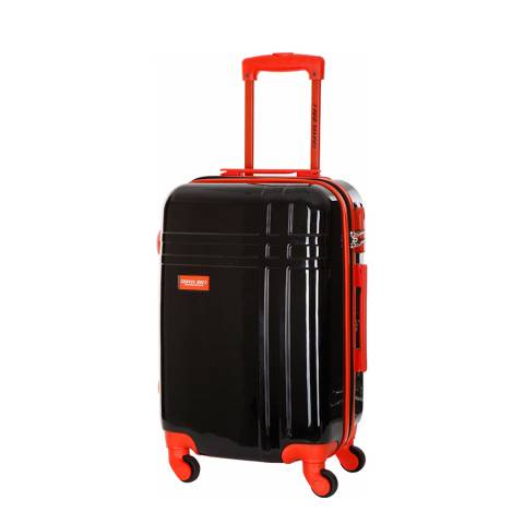 Travel One Black Broadwood 8 Wheel Suitcase 62cm
