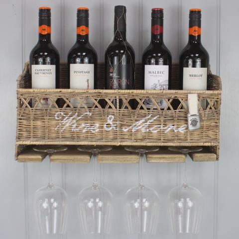 Maine Furniture Co. Key Largo Kubu Wine & Stem Rack