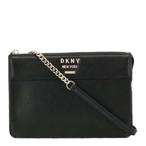 DKNY Black Ava Top Zip Crossbody