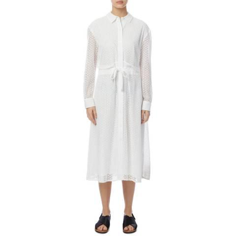 DKNY White Eyelet Broderie Dress