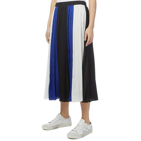 DKNY Multi Colourblock Pleated Skirt