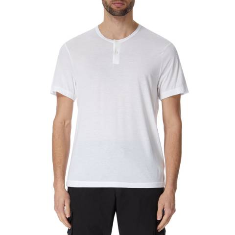 James Perse Cotton Poly S/S Henley